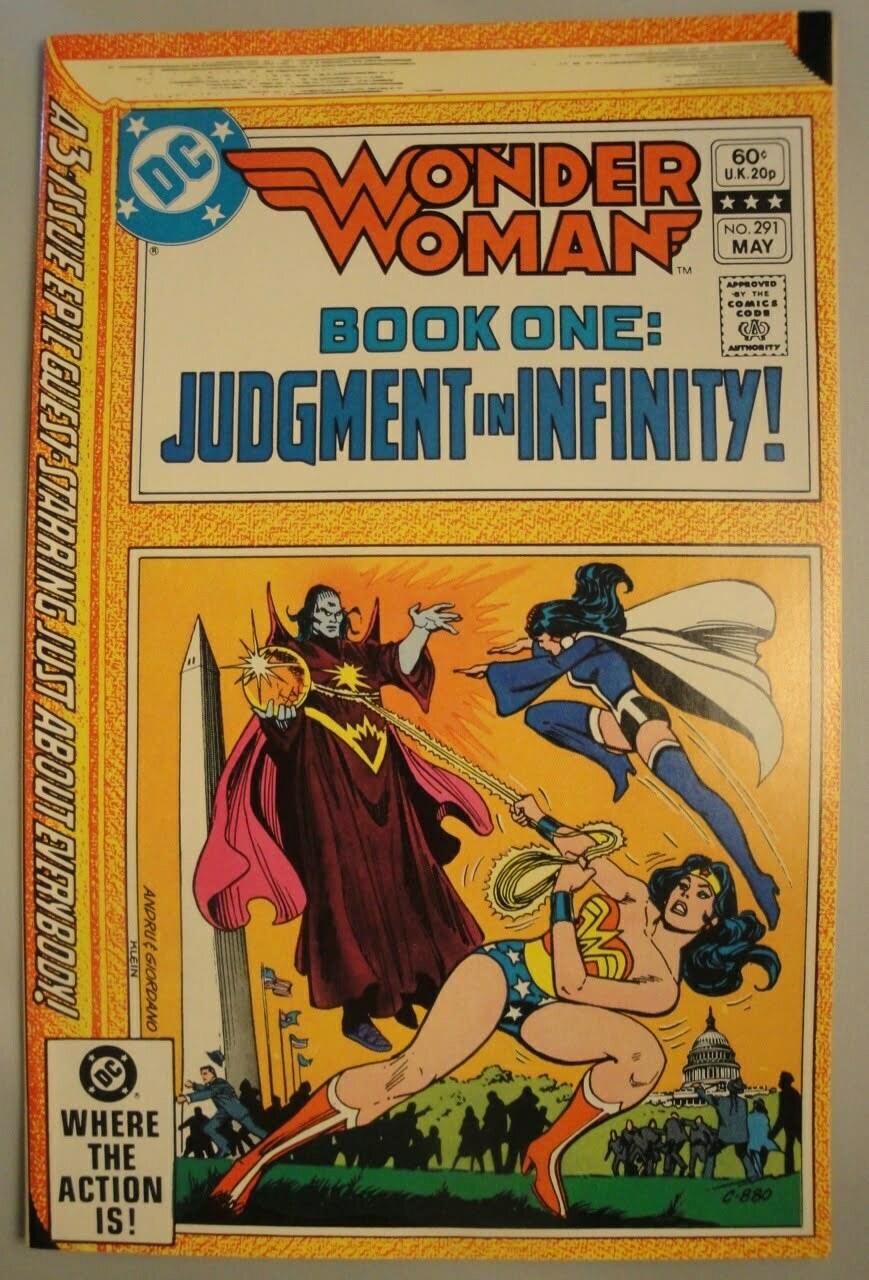 Wonder Woman #291 - Nice VF+, 1982, Zatanna, Comic Book