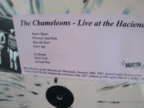 The Chameleons - Live At The Hacienda - Ltd Ed of 500, Radiation, Reissue