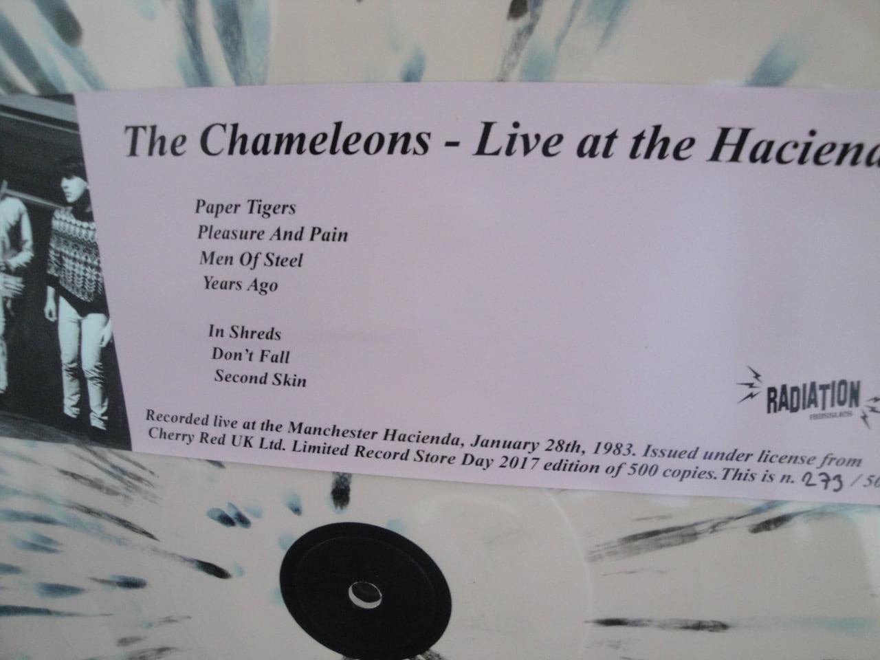 The Chameleons - Live At The Hacienda - Ltd Ed of 500, Radiation, Reissue