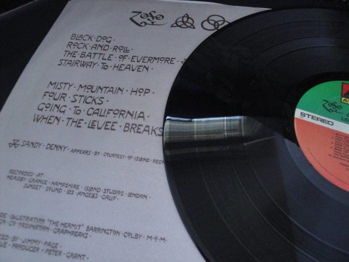 Led Zeppelin - Untitled - Atlantic, SD 19129 Vinyl LP, Reissue, Club Edition, CRC