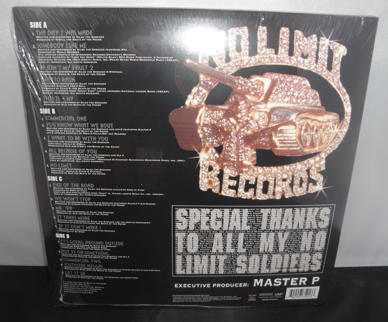 Silkk The Shocker - Made Man - No Limit Records, 2017, Vinyl LP Reissue