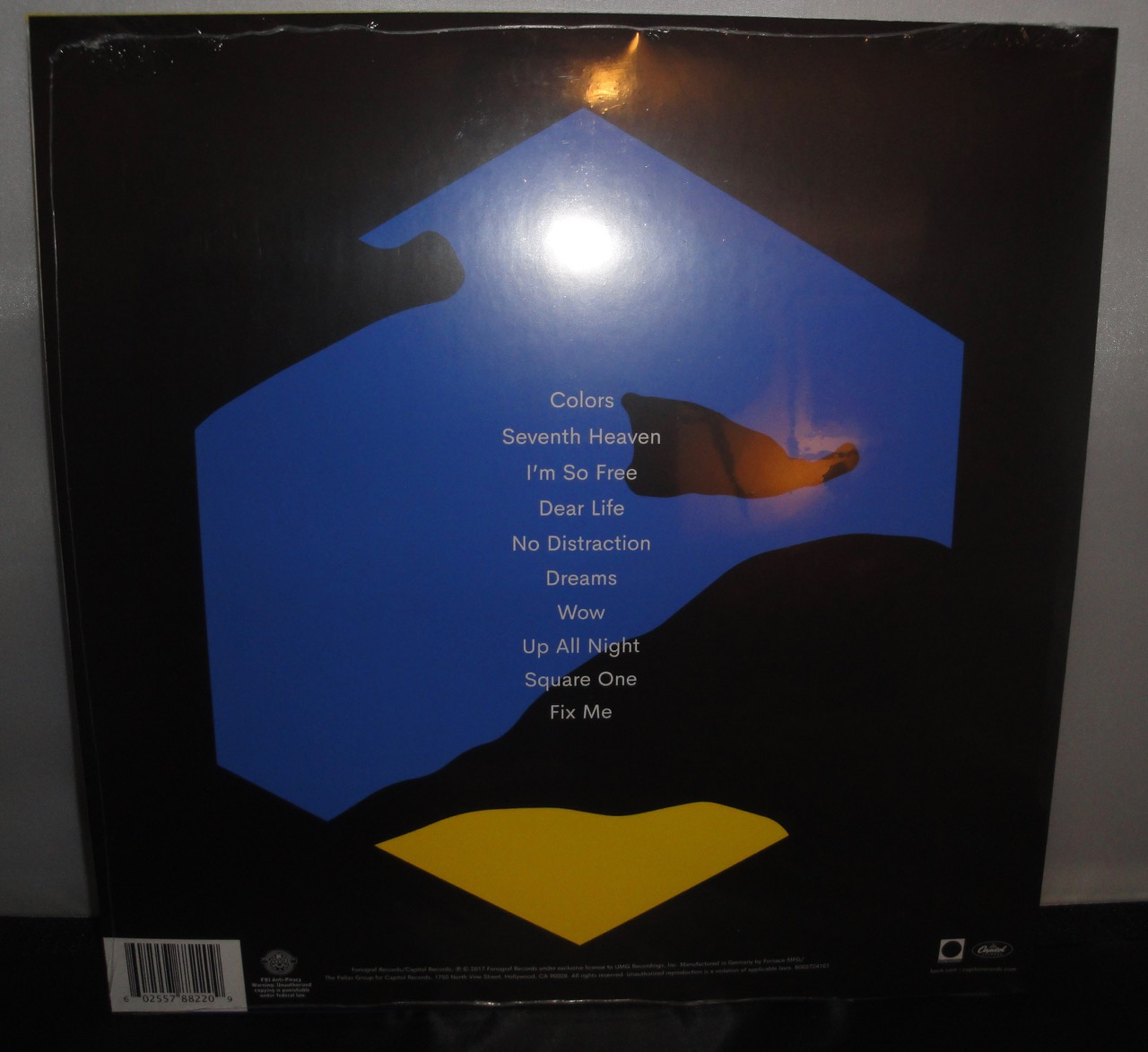 Beck Colors Indie Exclusive Yellow Colored Vinyl Lp