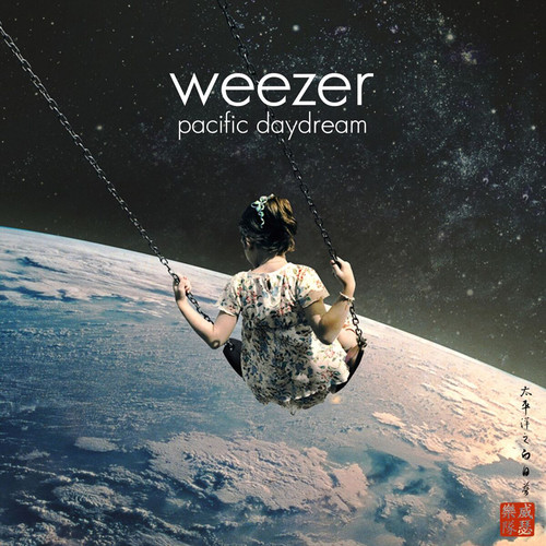 Weezer - Pacific Daydream - Red and Black Splatter Colored Vinyl, 2017