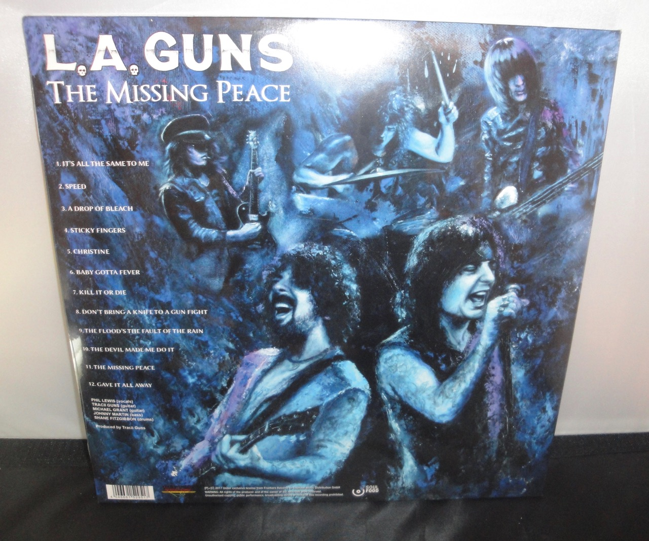 L.A. Guns - The Missing Peace - Limited Edition, Gatefold Jacket, Black, 2XLP, 2017