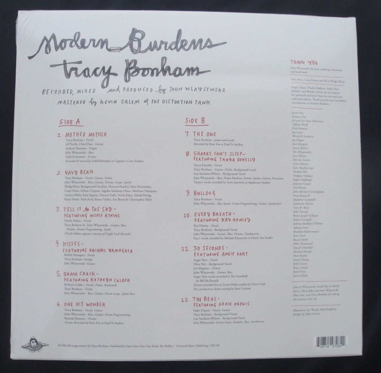 Tracy Bonham - Modern Burdens - Vinyl, LP, Second Motion, 2017