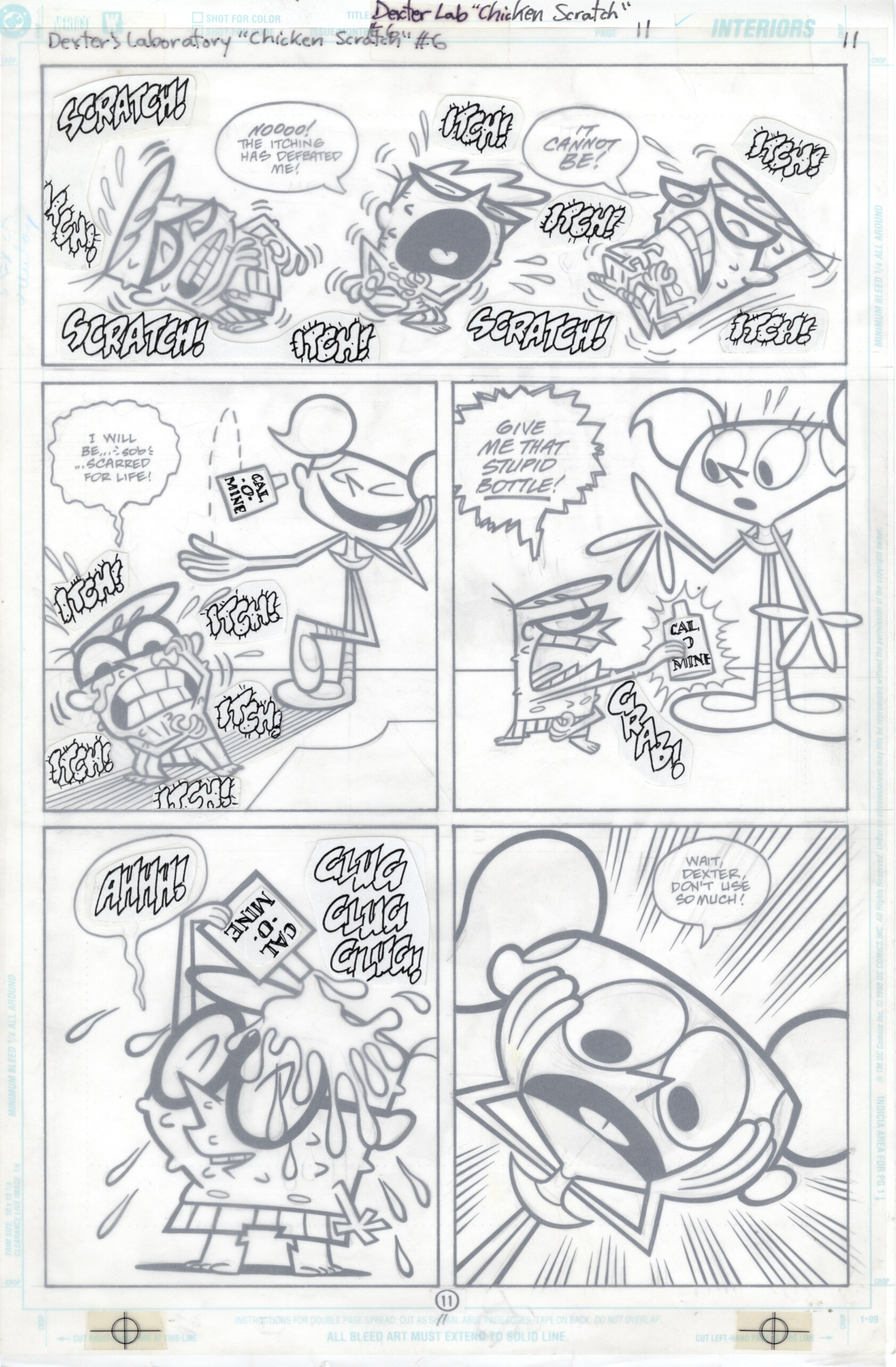 Dexter's Laboratory #6 page 11, Original art by Bill Wray for DC Comics, 2000