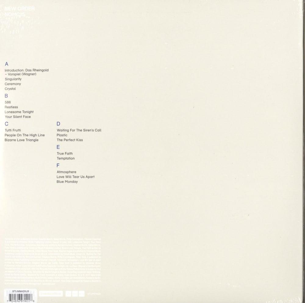 New Order - NOMC15 - 3XLP, Vinyl, Live, Brixton Academy, Mute U.S., 2017