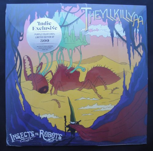 "Insects vs Robots ""Theyllkillya"" Limited Edition, Purple, Colored Vinyl, 2018"