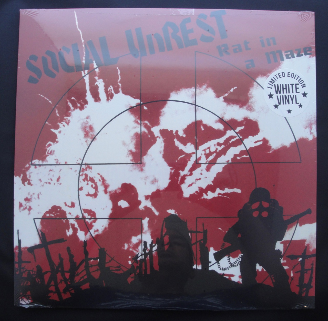 """Social Unrest """"Rat in a Maze"""" Limited Edition, White, Colored Vinyl, Reissue, 2018"""