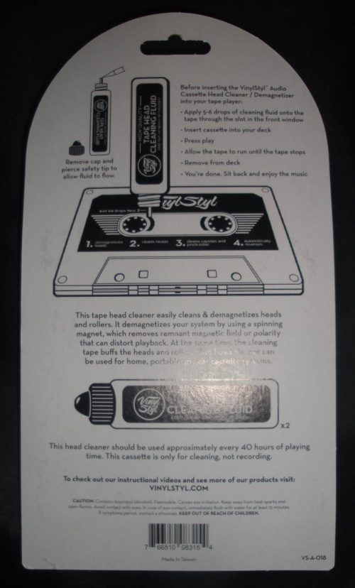 Vinyl Styl™ Audio Cassette Head Cleaner, Demagnetizer
