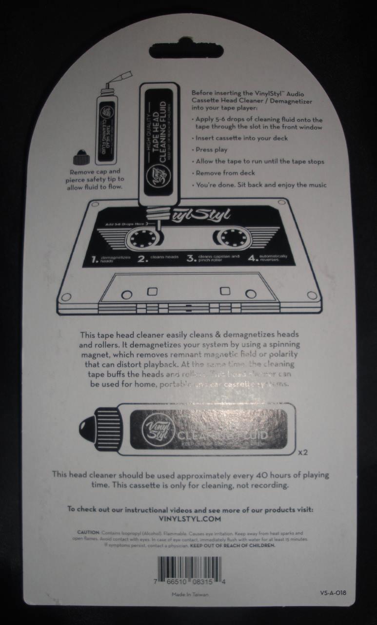 Vinyl Styl™ Audio Cassette Head Cleaner, Demagnetizer