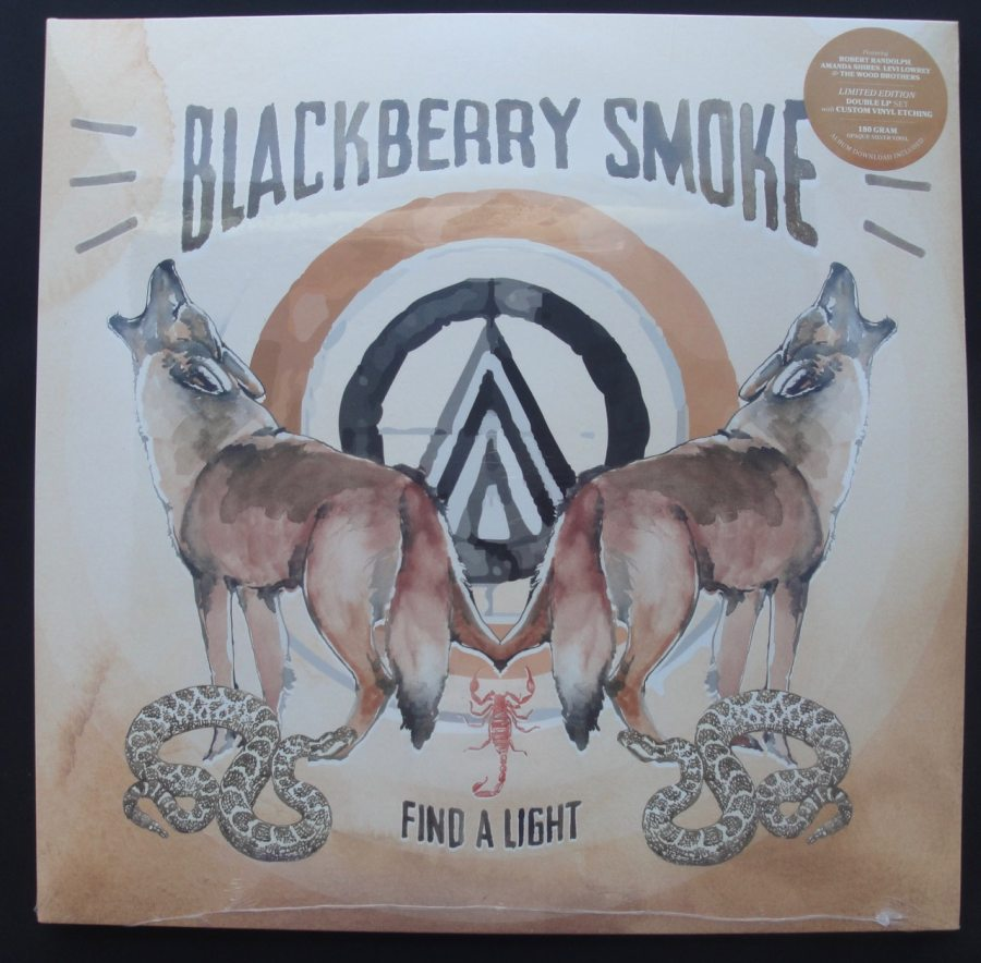 "Blackberry Smoke ""Find A Light"" Ltd Ed 2XLP Opaque Silver Colored Vinyl"