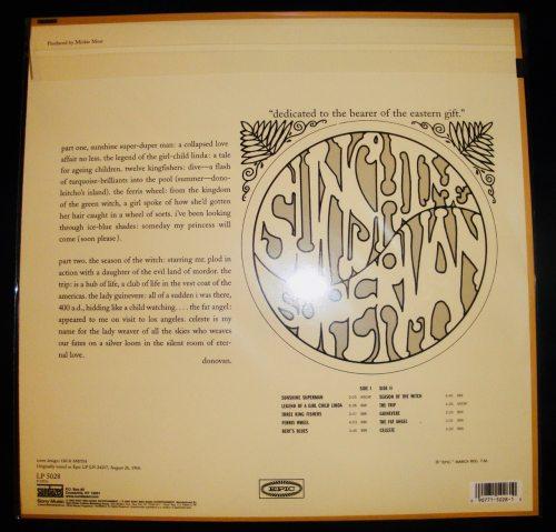 Donovan - Sunshine Superman - Limited Orange Colored Vinyl, LP, Sundazed, 2018