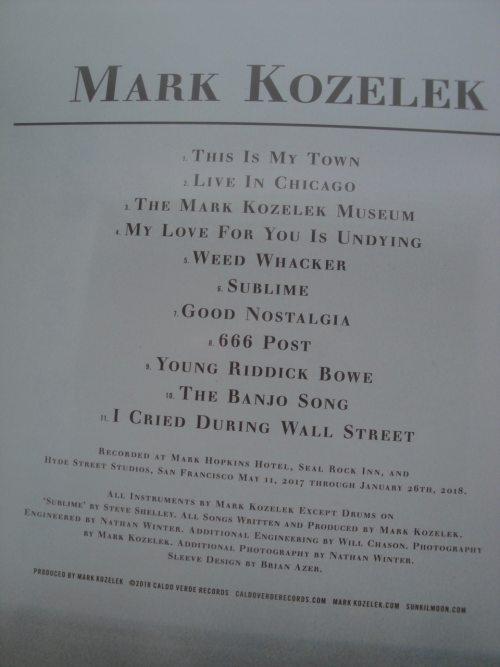 Mark Kozelek - Mark Kozelek - 2XLP, Vinyl, Caldo Verde, 2018