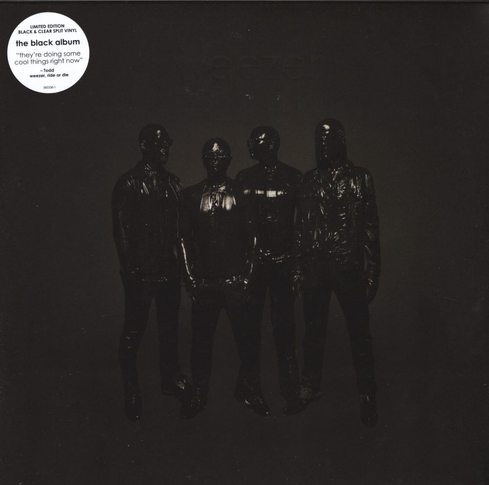 Weezer - Weezer (Black Album) - Black and Clear Split, Colored Vinyl, 2019