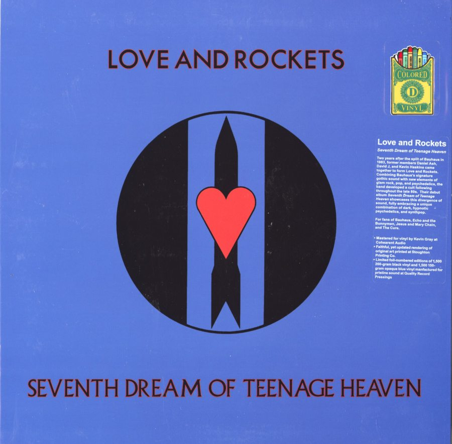 Love and Rockets - Seventh Dream of Teenage Heaven - 150 Gram, Ltd, Blue, Vinyl, 2014