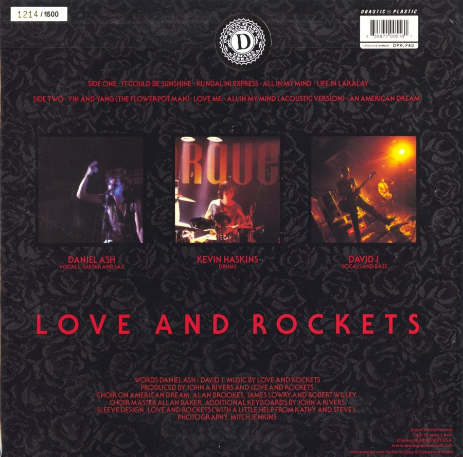 Love and Rockets - Express - 150 Gram, Limited, Numbered, Red, Colored Vinyl, Reissue, 2014