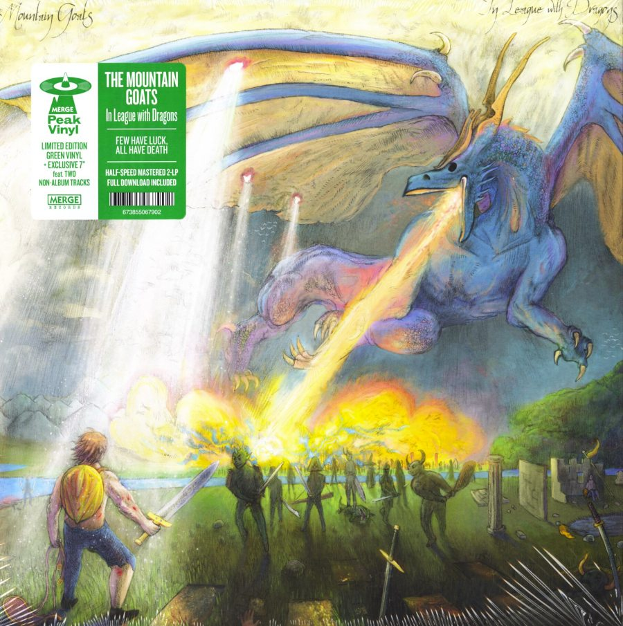 "The Mountain Goats - In League With Dragons - 2XLP, Green Vinyl, w bonus 7"", Merge, 2019"