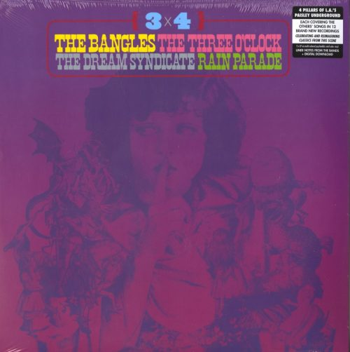 Various Artists - 3 x 4 - Paisley Underground, Bangles, Rain Parade, Dream Syndicate, Three O'Clock, Multicolored Psychedelic Swirl Colored Vinyl