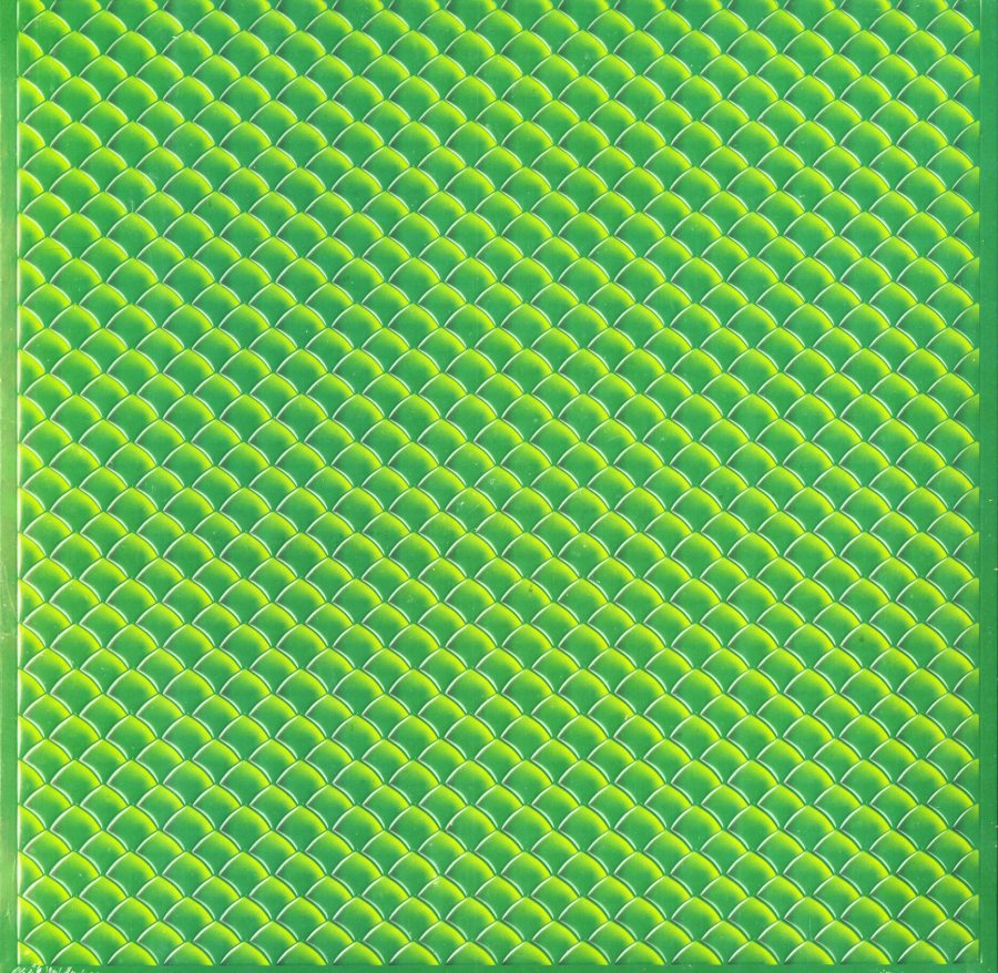 "The Mountain Goats - In League With Dragons - Dragon Scale Slipcase, Yellow, Green, 2XLP + 7"", Merge Records, 2019"