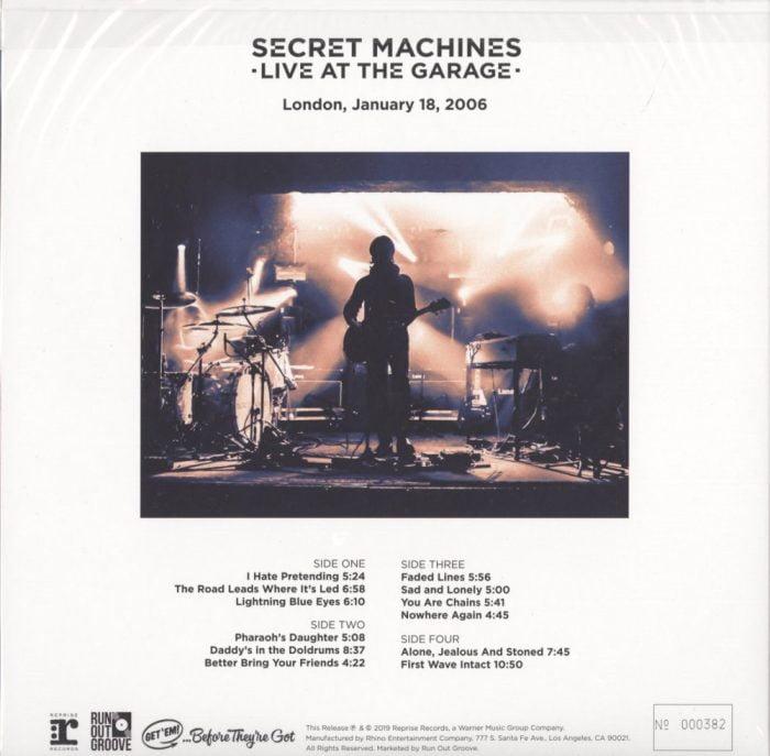 Secret Machines - Live At The Garage - Ltd Ed, Numbered, Double Vinyl, 2XLP, R.O.G., 2019