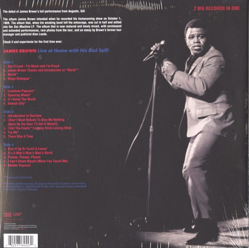 James Brown - Live At Home With His Bad Self - Live in 1969, Double Vinyl, Polydor, 2019