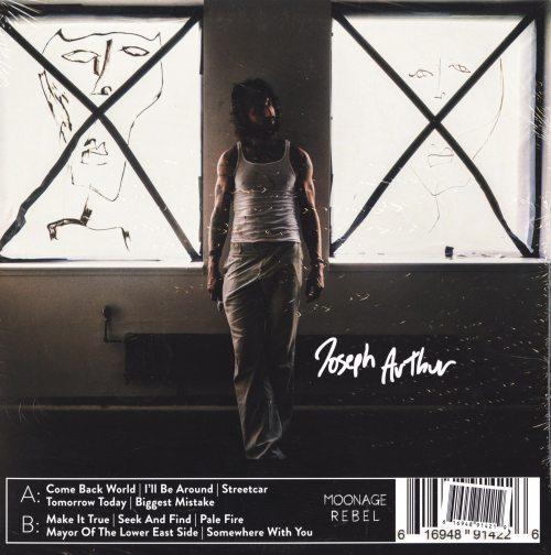Joseph Arthur - Come Back - Limited Edition, Blue, Colored Vinyl, LP, Moonage Rebel, 2019