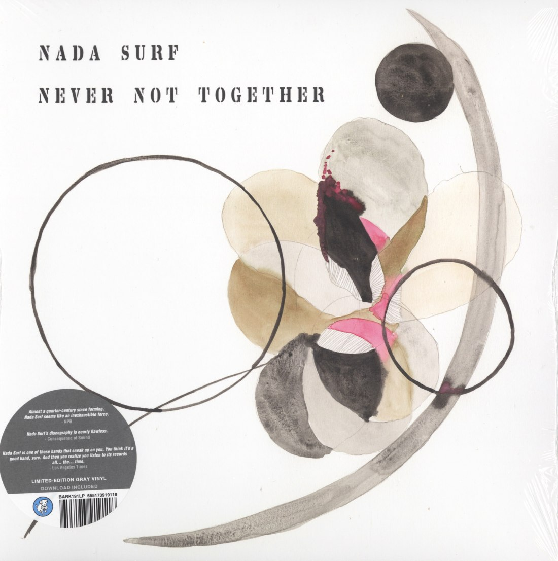 Nada Surf - Never Not Together - Limited Edition, Gray, Colored Vinyl, Barsuk, 2020