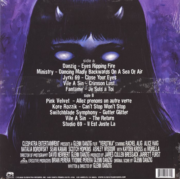 Various Artists - Verotika - Motion Picture Soundtrack - Danzig, Ministry, Cleopatra Records, 2020