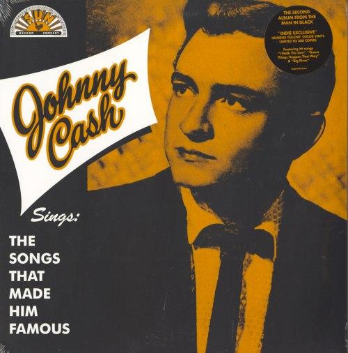 Johnny Cash - Sings The Songs... Ltd Ed, Sunshine Yellow, Colored Vinyl, LP, Reissue, Org Music, 2020