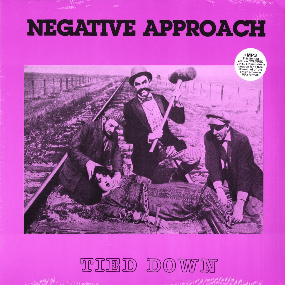Negative Approach - Tied Down - Limited Edition, Purple, Colored Vinyl, Reissue, Touch and Go, 2020