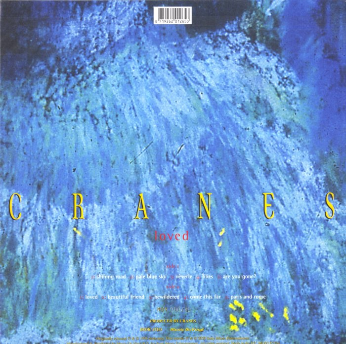 Cranes - Loved - Limited Edition, Blue, Colored Vinyl, Numbered, Reissue, Music On Vinyl, 2020