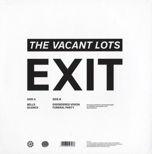 The Vacant Lots - Exit - Limited Edition, Vinyl, EP, A Recordings, 2019