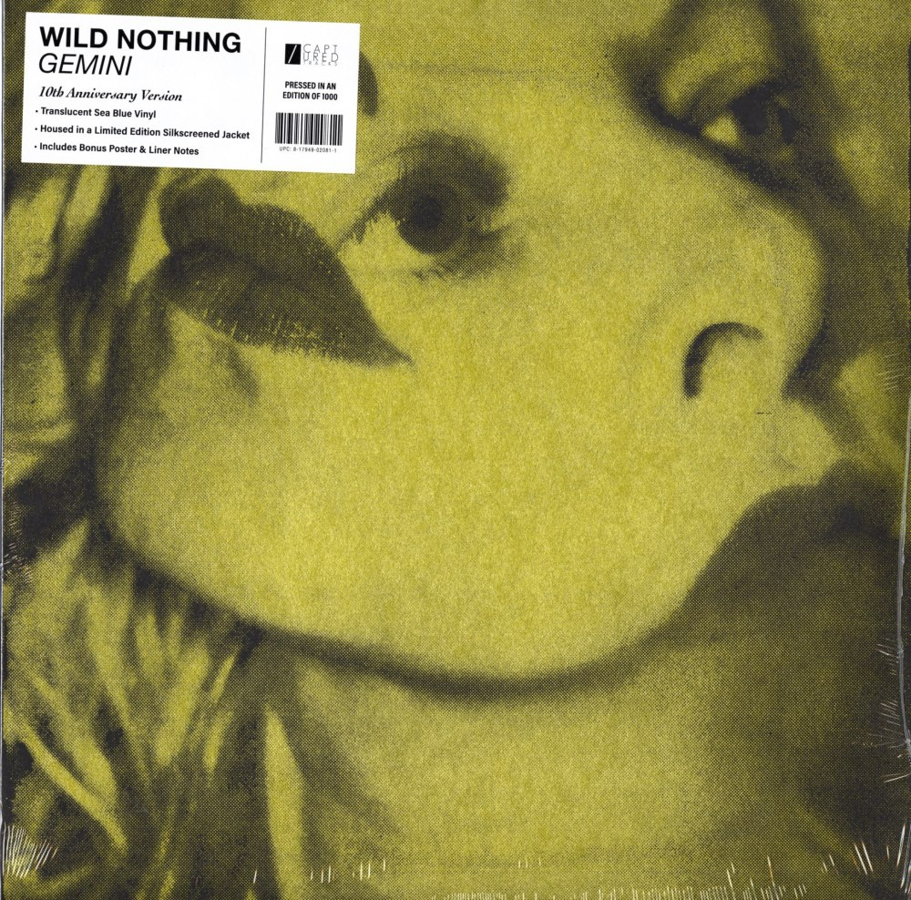 Wild Nothing - Gemini - Limited Edition, 10th Ann., Blue Translucent, Colored Vinyl, Captured Tracks, 2020