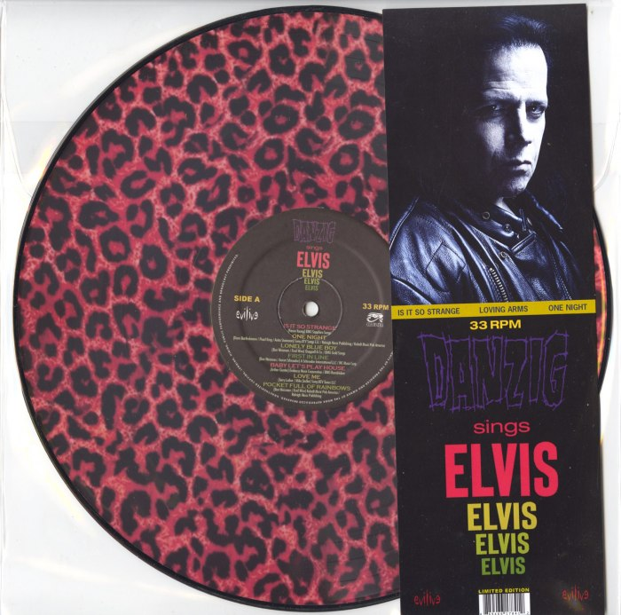 """Danzig Sings Elvis, Limited Edition """"Leopard Print"""" Picture Disc Version, Cleopatra, 2020"""