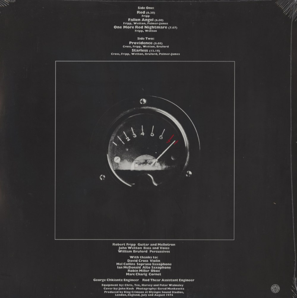 King Crimson – Red – Limited Edition, 200 Gram, Vinyl, LP, Remixed, 2020