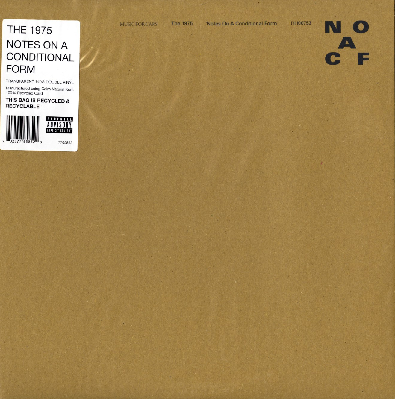 The 1975 - Notes On A Conditional Form - Limited Edition, Clear Vinyl, Double LP, Dirty Hit, 2020