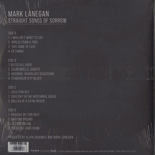 Mark Lanegan - Straight Songs Of Sorrow - Limited Edition, Clear Vinyl, LP, Heavenly, 2020