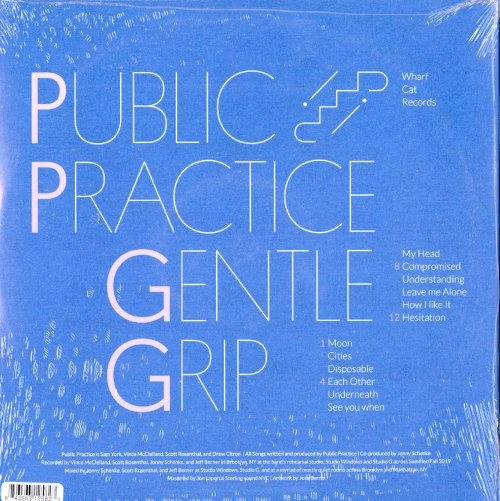Public Practice - Gentle Grip - Limited Edition, Red, Colored Vinyl, Wharf Cat Records, 2020