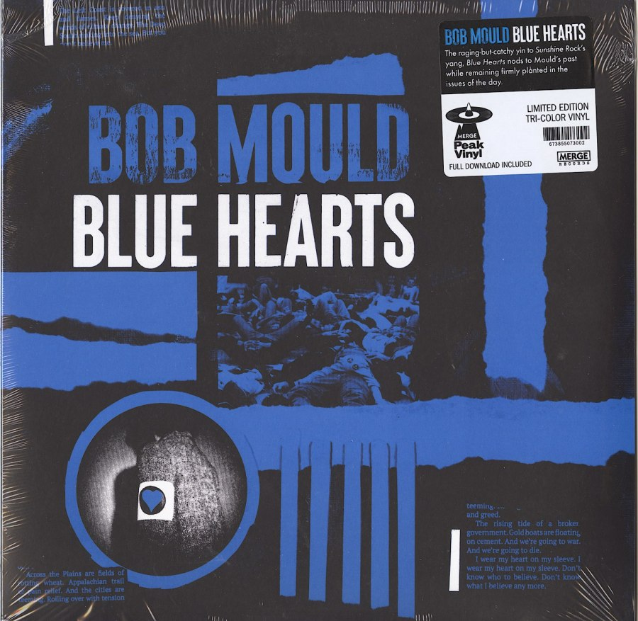 Bob Mould - Blue Hearts - Limited Edition, Tri-color, Colored Vinyl, LP, Merge Records, 2020