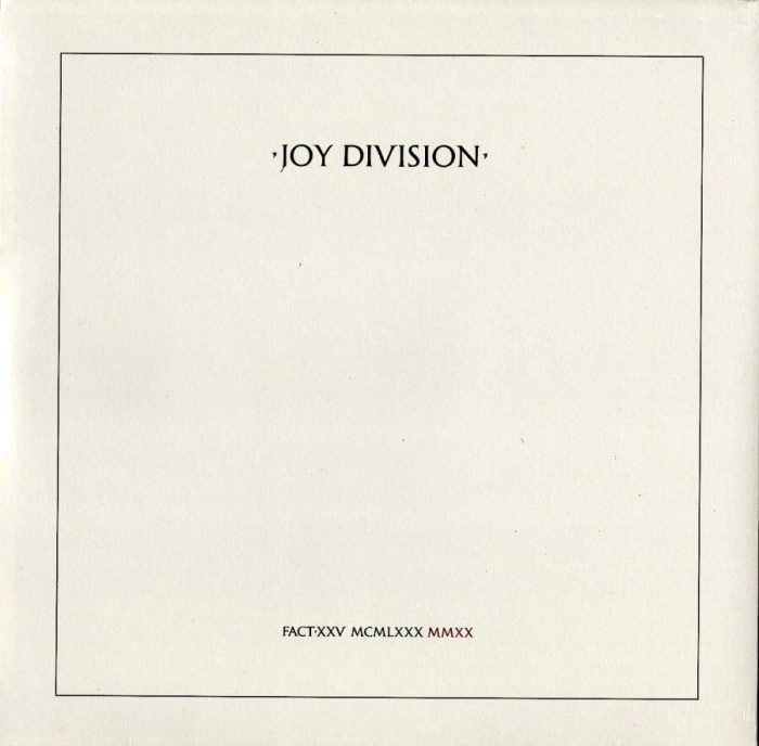 Joy Division - Closer - 40th Anniversary, Crystal Clear, Colored Vinyl, LP, Warner Records, 2020