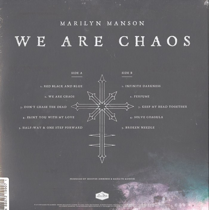Marilyn Manson - We Are Chaos - Vinyl, LP, with Poster, 3 Postcards, Loma Vista, 2020
