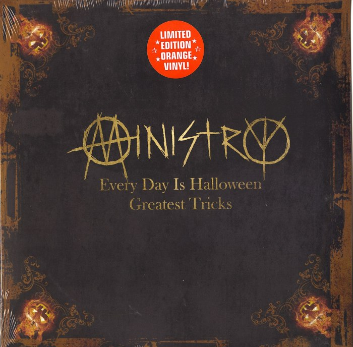 Ministry - Every Day Is Halloween - Greatest Tricks - Ltd Ed, Orange, Colored Vinyl, Cleopatra, 2020