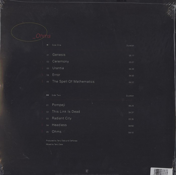 Deftones - Ohms - Limited Edition, Gold, Colored Vinyl, LP, Warner Music, 2020