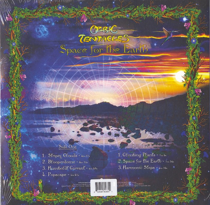 Ozric Tentacles - Space For The Earth - Limited Edition, Turquoise, Colored Vinyl, Import, Kscope, 2020