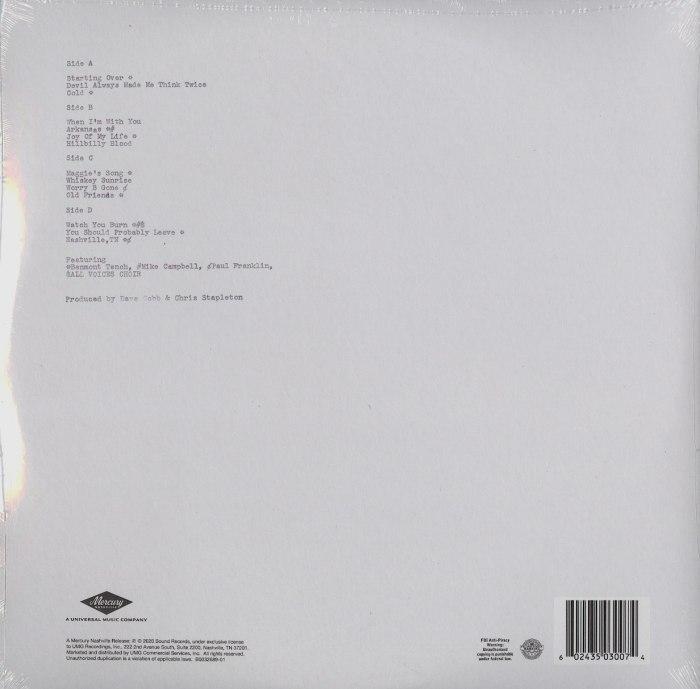 Chris Stapleton - Starting Over - Double Vinyl, LP, Mercury Records, 2020