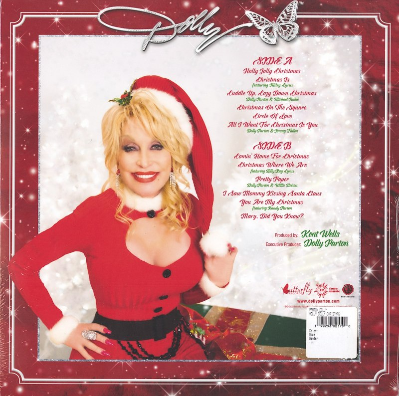 Dolly Parton - A Holly Dolly Christmas - Limited Edition, Red, Colored Vinyl, LP, Butterfly Records, 2020