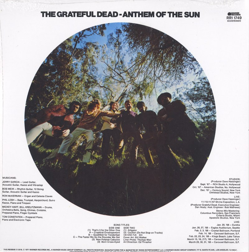 Grateful Dead - Anthem Of The Sun - 50th Anniversary, Remastered, 180 Gram, Vinyl, LP, Rhino, 2020