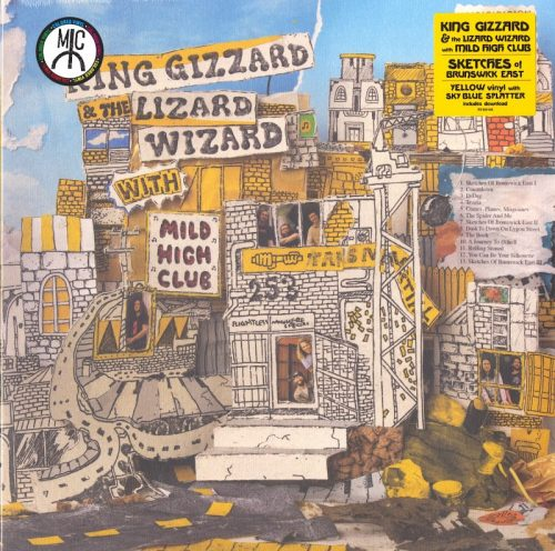 King Gizzard and the Lizard Wizard - Sketches Of Brunswick East - Limited Edition, Yellow with Sky Blue Splatter, Color Vinyl, ATO, 2017