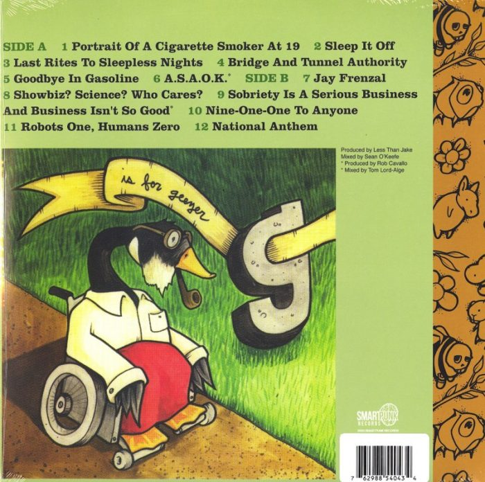 Less Than Jake - B is for B-Sides - Limited Edition, Yellow and Clear Vinyl, SmartPunk Records, 2020